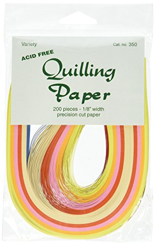 Lake City 1/8-Inch Craft Quilling Paper 200-Pack, 10 Colors