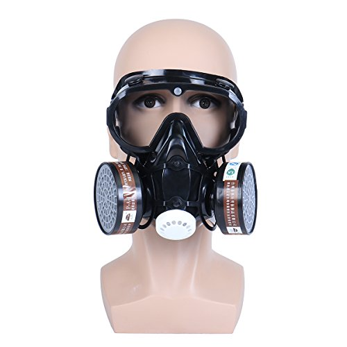 OlogyMart Respirator Gas Mask Safety Chemical Anti-Dust Filter Military Eye Goggle Set Workplace Safety Prote by OlogyMart (Image #1)