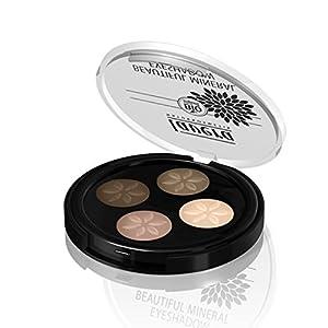 LAVERA Palette Quattro – Fards à paupières poudres compactées – Couleur – Cappuccino Cream 02 – 4×0.8g