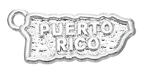 Rico Map Charm Puerto - 30PCS Puerto Rico Map Charms Pendants DIY for Jewelry Making and Crafting
