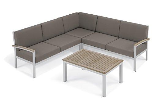 Oxford Garden Designs Travira 4-Piece Loveseat & Coffee -...