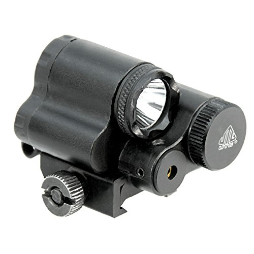 (UTG Sub-compact LED Light and Aiming Adjustable Red Laser)
