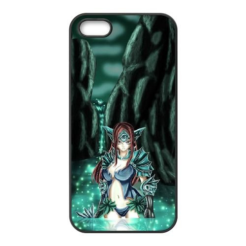Fairy Tail 021 coque iPhone 4 4S Housse téléphone Noir de couverture de cas coque EOKXLLNCD14491