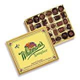 Whitman's Sampler Assorted Chocolate, 24 Ounce Box, Assortment Box; An Assortment of Nutty, Chewy, Creamy, Crispy Milk Chocolate Covered Candies and Dark Chocolate Covered Candies