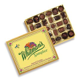 Whitman's Sampler Assorted Chocolate 24 Ounce Box Whitman's Sampler Assortment Box; An Assortment of Nutty, Chewy, Creamy, Crispy Milk Chocolate Covered Candies and Dark Chocolate Covered Candies