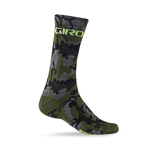 Giro Seasonal Merino Wool Socks Camo/Highlight Yellow X-Large ()