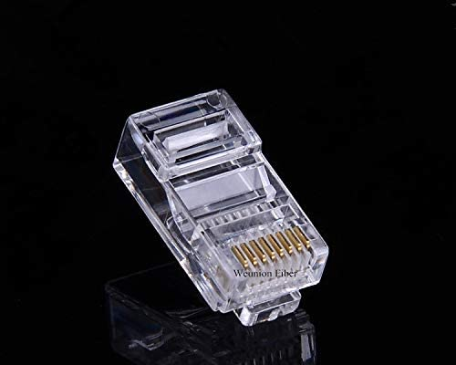 100pcs RJ45 8Core Gold-Plated RJ45 Connector Pure Copper Network Cable Connector