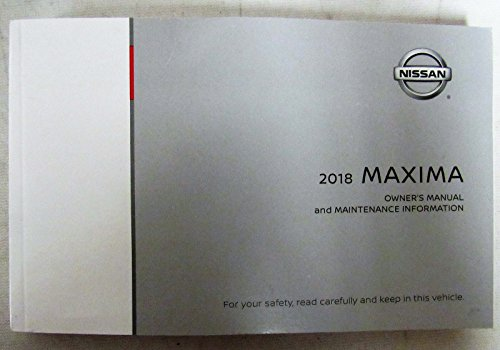 2018 Nissan Maxima Owners Manual Guide Book