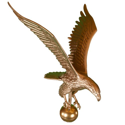 Montague Metal Products Flagpole Eagle, 18-Inch, Gold
