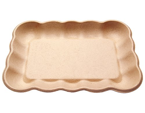 Compostable Biodegradable Eco Friendly Cloud Collection Trays - Plates Made from Tree-Free Bagasse Sugarcane for Weddings, Dinnerware, Catering or Takeout (100, 9.5
