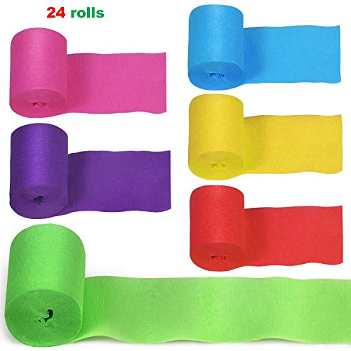 24 Rolls Crepe Paper Streamers Party Streamers Crepe