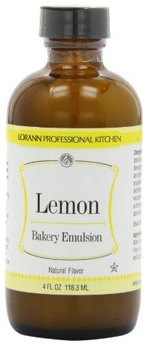 LorAnn Bakery Emulsions, Lemon Bakery Emulsion, 4-Ounce Bottle (Pack of 4) by LorAnn Oils (Bakery Emulsion Lemon compare prices)