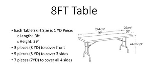 Stuffwholesale Fitted Party Table Skirt Children Party Decoration Table Cloth (Blue+Pink) by Cloth (Image #1)