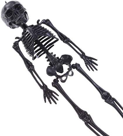 Toyvianハロウィーンホラースカル不気味な装飾の小道具人体サスペンションボーンパーティー用品(ブラックスケルトン)