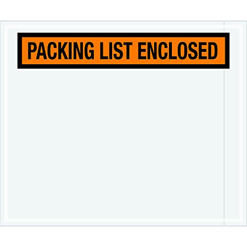 Ship Now Supply SNPL434 ''Packing List Enclosed'' Envelopes, 10'' x 12'', width, 10'' Length, Orange (Pack of 500) by Ship Now Supply