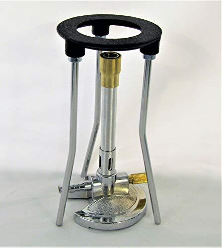 Yantra Lab Bunsenbrenner mit Ständer für Flüssiggas-Propan, Luftgasanpassungsstativ