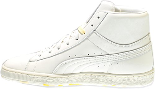 Puma Mens Basket Mid P & C Marshmallow / Giallo Morbido
