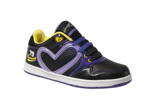 Pineapple , Baskets mode pour fille Black/Lilac/Yellow