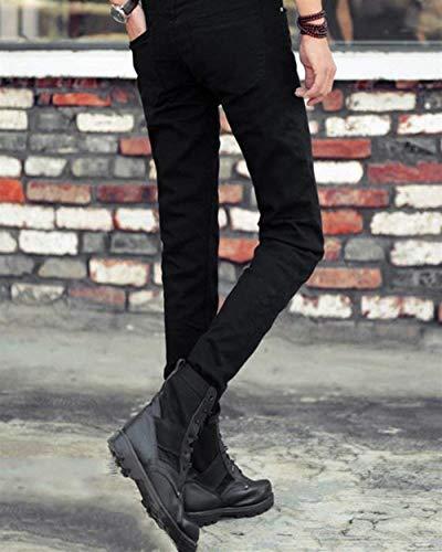 Uomo Di Da T Jeans Il Casual Pantaloni Per Ragazzo lannister Nero Neri Slim Qk xpHwtxP