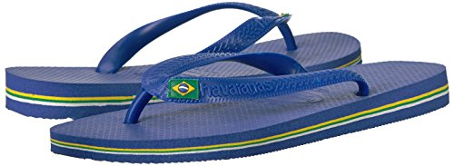 46 Chanclas 45 Brasil Unisex Havaianas 47 48 Brasil Blue para Azul Marine EU Brazilian Logo Adulto 5qW6Fa