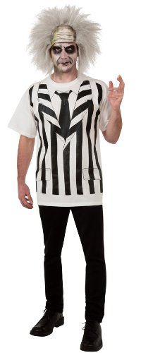 Beetlejuice Costume Shirt And Wig, Multi, Standard