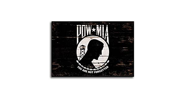 Letia48Maud MIA Pow Banderas de Madera rústicas Banderas de Madera faltante en acción Hecho a Mano Signo de Estado Signo decoración de Pared decoración ...