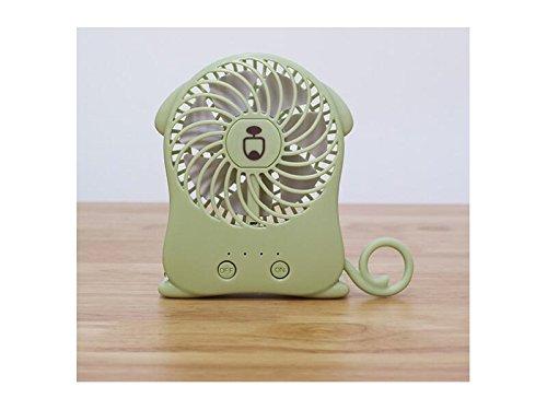 Yunqir Compatible USB Portable Lovely Cartoon Animal Handheld Mini Folding Fold Fan (Green) by Yunqir