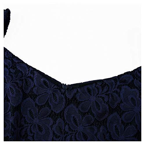 Fit blu Vestito Elegante Miusol Slim Donna Coctel Corta D Pizzo wzTwqHxtZ