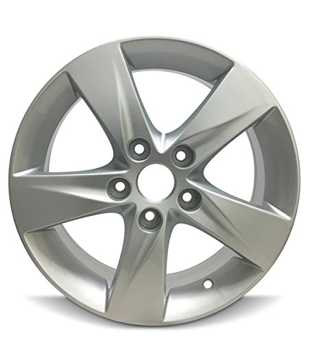 Aluminum Rims Tire - Road Ready Car Wheel For 2011-2013 Hyundai Elantra 16 Inch 5 Lug Silver Aluminum Rim Fits R16 Tire - Exact OEM Replacement - Full-Size Spare