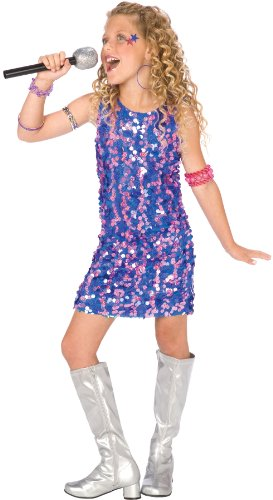 Pop Star Diva Girl Costume - (Kids Pop Star Costumes)