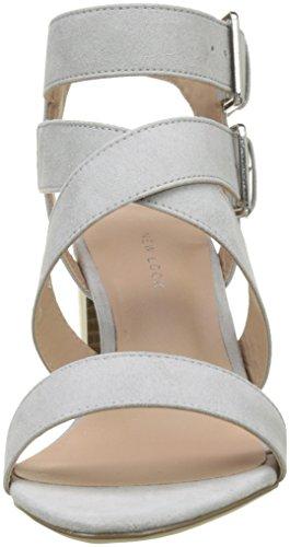 New Look Women's Paladium Open Toe Heels Grey (Mid Grey 4) l9RctMWv