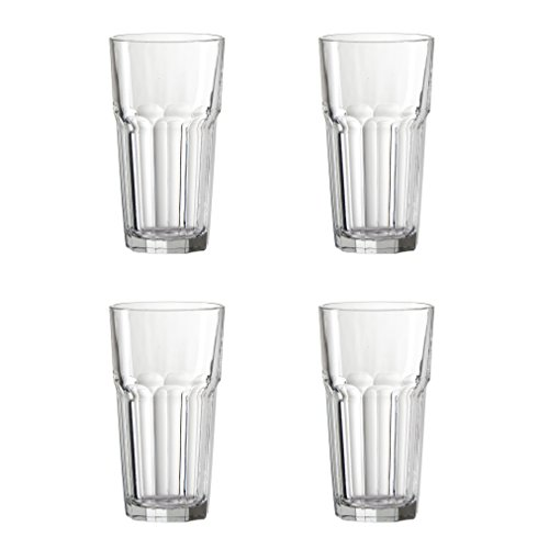 Amici London Collection Hiball Glasses, 17 oz - Set of 4