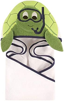 Hudson Baby Animal Hooded Towel - Scuba Turtle by Hudson Baby