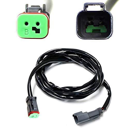 iJDMTOY (1) 60 Deutsch DT DTP Extension Harness Kit For Off-Road LED Light Bar, LED Pod Lights, Worklamp, etc