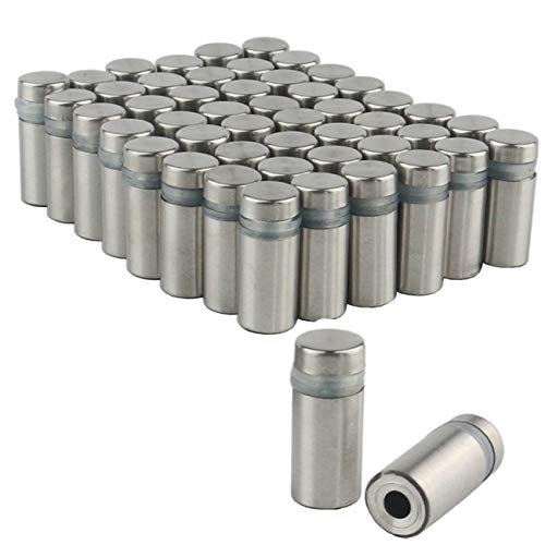 Ogrmar 50PCS 12x25mm Stainless Steel Wall Standoff for Glass (12x25mm)