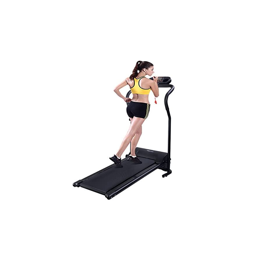 Goplus 800W Folding Treadmill Electric Motorized Power Fitness Running Machine W/Mobile Phone Holder (Blue)