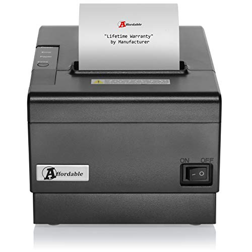 Thermal Receipt Printer by Affordable - POS USB Receipt Printer - with Auto Cutter 80mm - Support Cash Drawer Interface