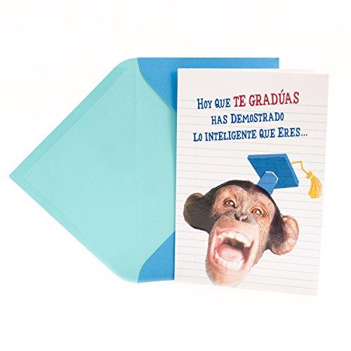 Card Holder Monkey (Hallmark Vida Spanish Language Funny Graduation Greeting Card (Pop Up Monkey in Graduation Cap Celebrar en Grande))