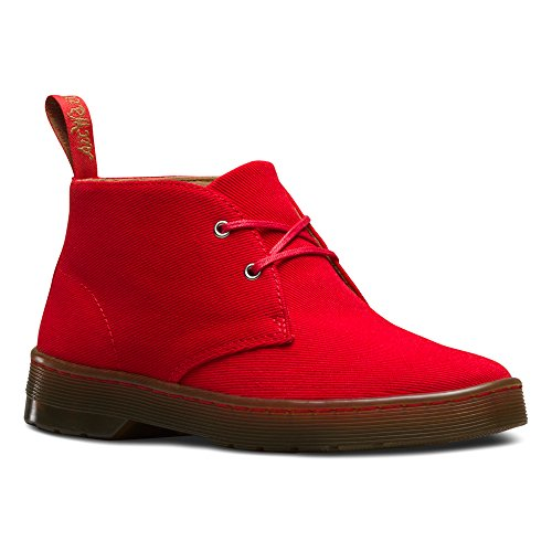 Dr. Martens Daytona Twill Canvas Red, Women's Desert Boots Red