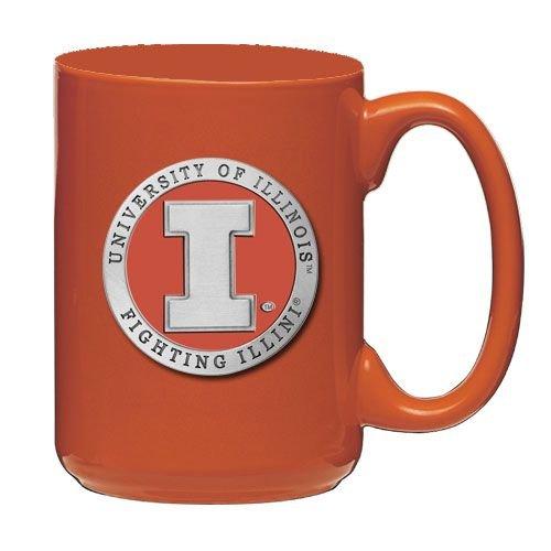 - Illinois Fighting Illini Orange Coffee Mug Set