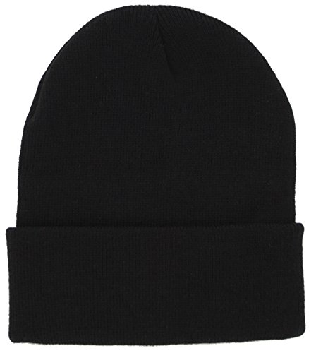 Dealstock Plain Knit Cap Cold Winter Cuff Beanie (40+ Colors Available) - Man Yellow Youtube