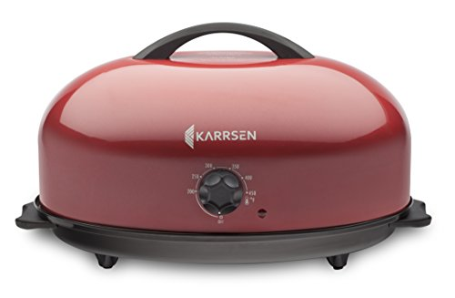 Dome Oven - Karrsen KBR-016R BR-2 Dome Oven with Captive Heat Technology (CHT) -  Saves space, time, energy and is easy-to-use; Red