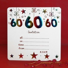 Pack of 10 60th birthday party invitations amazon kitchen pack of 10 60th birthday party invitations stopboris