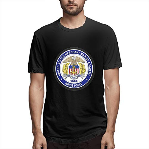 (United States Merchant Marine Academy - Kings Point Men's Short Sleeve T-Shirt Black)