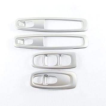 Embellecedores para interruptores de ventana, 4 unidades, de plástico ABS mate, interior de la puerta.: Amazon.es: Coche y moto