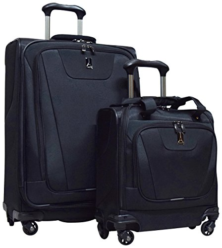 Travelpro Maxlite 4 2-Piece Luggage Set: 25'' Expandable Spinner & Easy Carry On Under Seat Bag (Black) by Travelpro