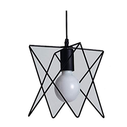Lustre Noir Cage Suspension Lumières Fer Rétro Lumière Lampe Pyramide Lampe Suspendue En Métal E27 Intérieur [Classe énergétique A +++]