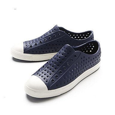 Los hombres sandalias zapatos agujero Confort Casual de resorte de goma azul Royal Azul Marino Amarillo Planas,azul Royal Navy Blue