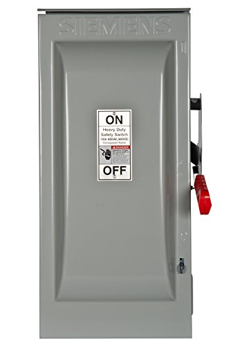 Siemens HNF363R 100-Amp 3 Pole 600-volt 3 Wire Non-Fused Heavy Duty Safety Switches (480v 3 Phase Power Switch)