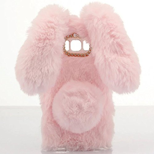 Furry Bunny (Galaxy S8 Case [Plush Rabbit Case] Stylish Desgin Cute Furry Rabbit Bunny Fur Bling Crystal Rhinestone Design Fluffy cool soft Case protective Cover slim shell new for Samsung Galaxy S8)